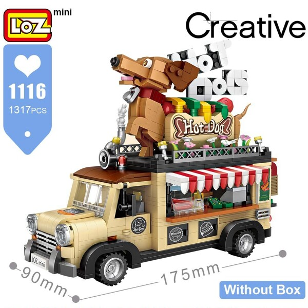 LOZ 1116 Hot Dog Car Brickheadz