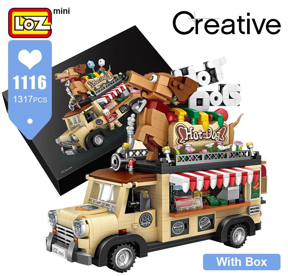 LOZ 1116 Hot Dog Car Brickheadz