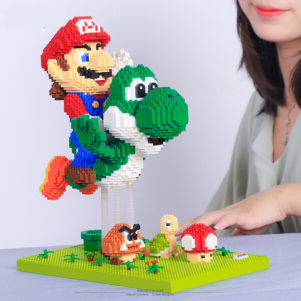 BALODY 16168 Super Mario Fly With Yoshi Brickheadz