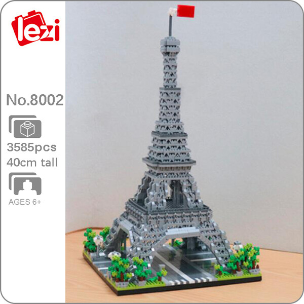 LEZI 8002 The Eiffel Tower Paris Brickheadz