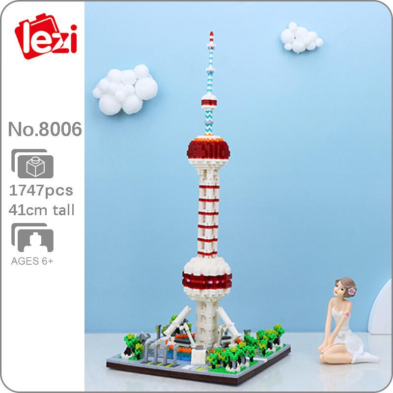 LEZI 8006 The Oriental Pearl Tower Brickheadz