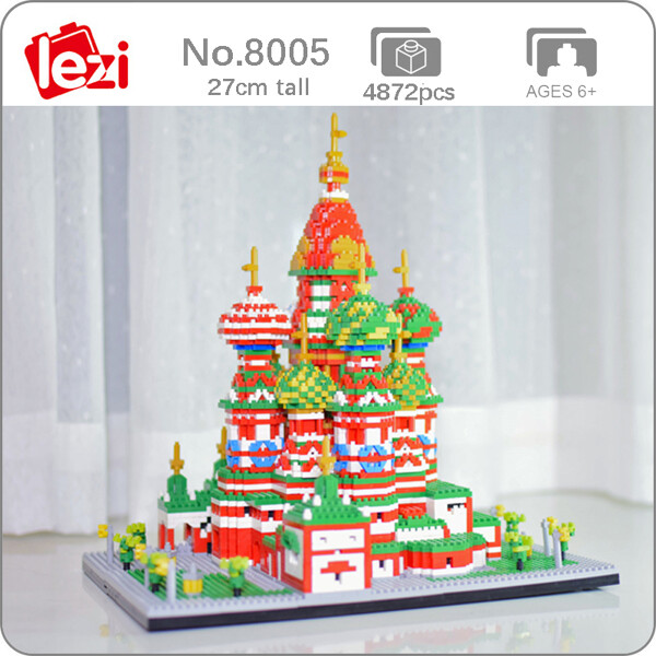 LEZI 8005 The Saint Basil's Cathedral Church Brickheadz
