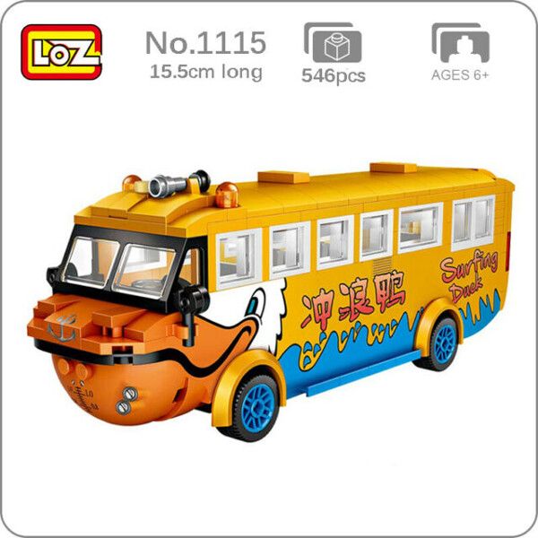 LOZ 1115 Surfing Duck Bus Brickheadz