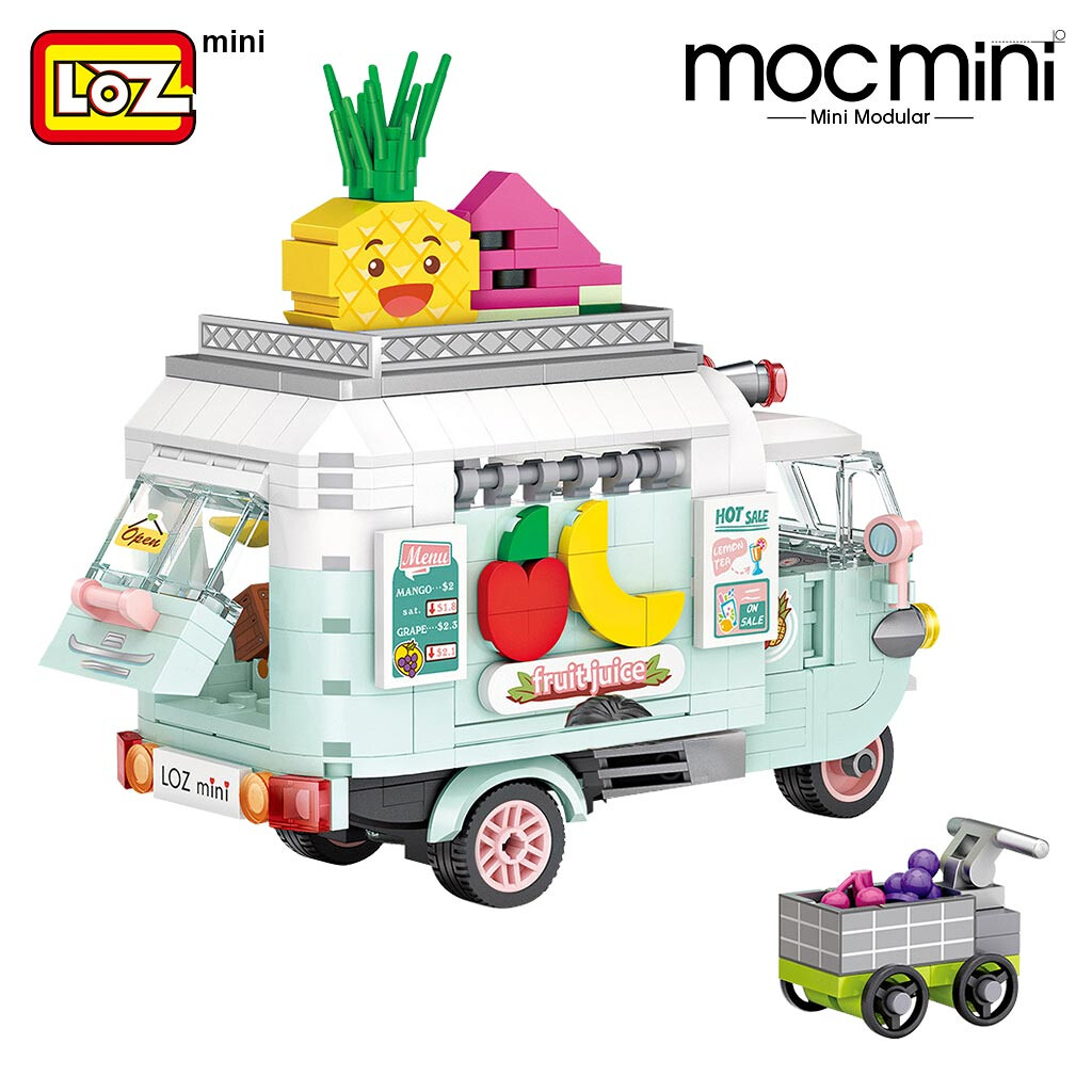 LOZ 1737 1738 Dessert Model Set Brickheadz