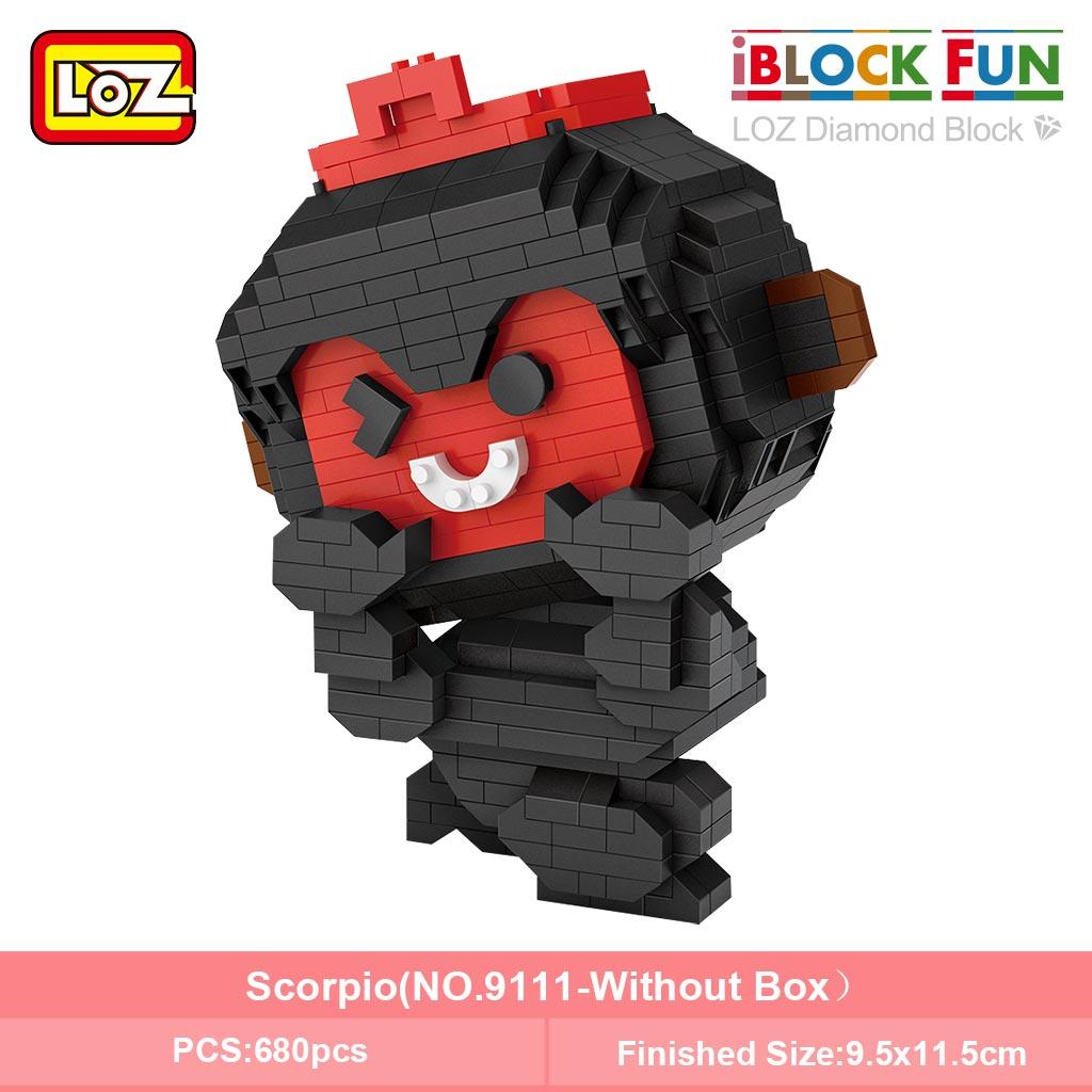 LOZ 9101-9112 Twelve Constellation Set Bundle Brickheadz