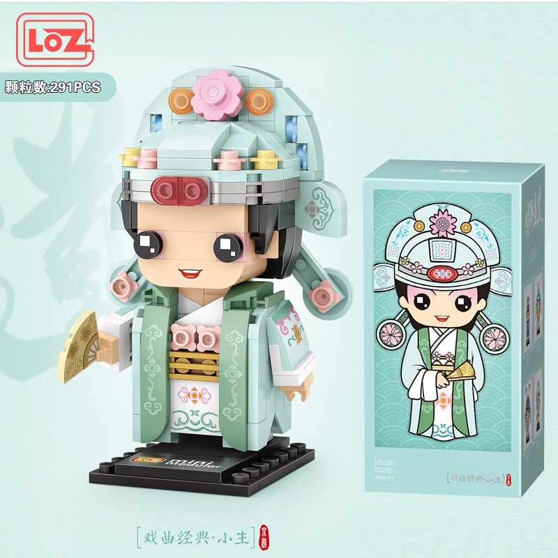 LOZ 1541-1544 GUO Chao Peking Opera MINI BLOCKS