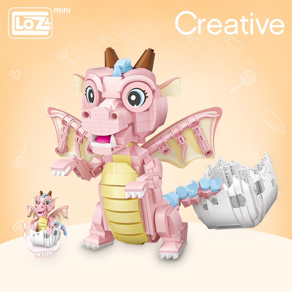 LOZ 1122 Baby Dragon Brickheadz