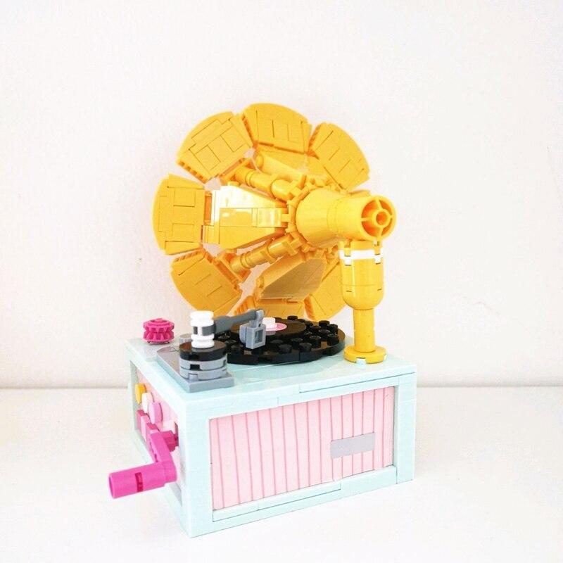 LOZ 1123 Flower Phonograph Brickheadz