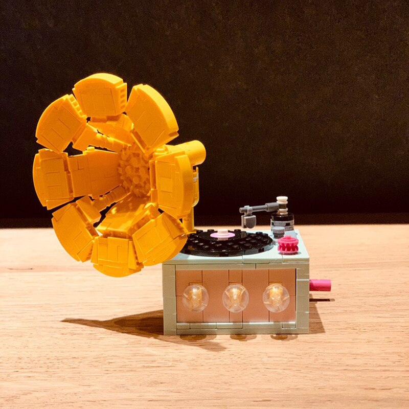 LOZ 1123 Flower Phonograph Brickheadz