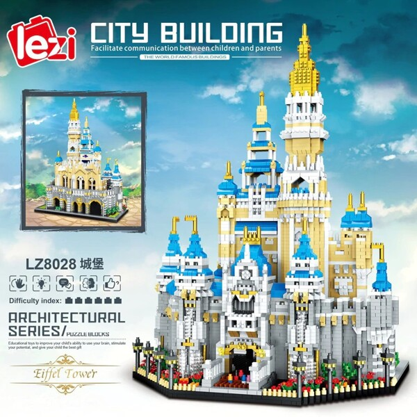 LEZI 8028 Big Dream Castle Brickheadz