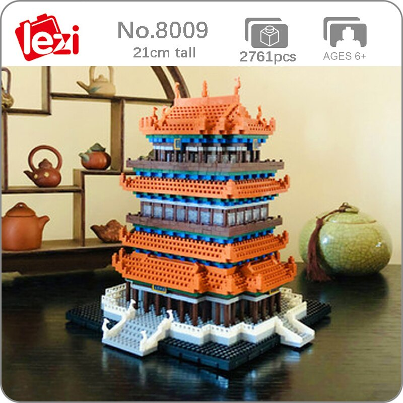 LEZI 8009 Guanque Tower Brickheadz