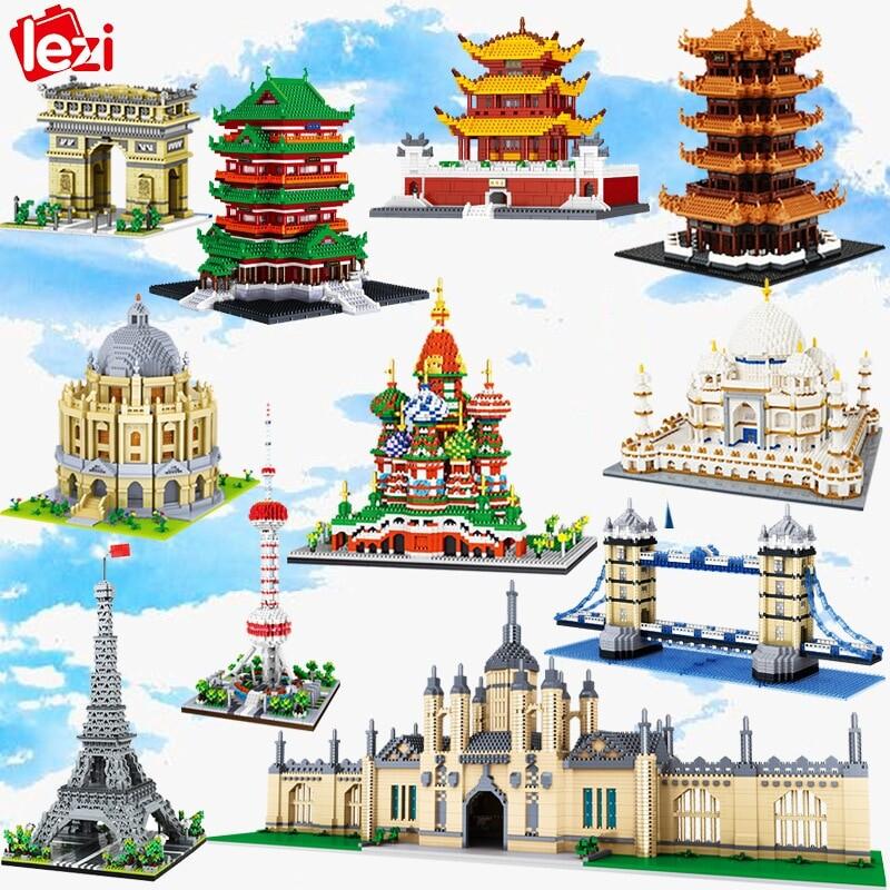 LEZI Architecture World Bundles Brickheadz