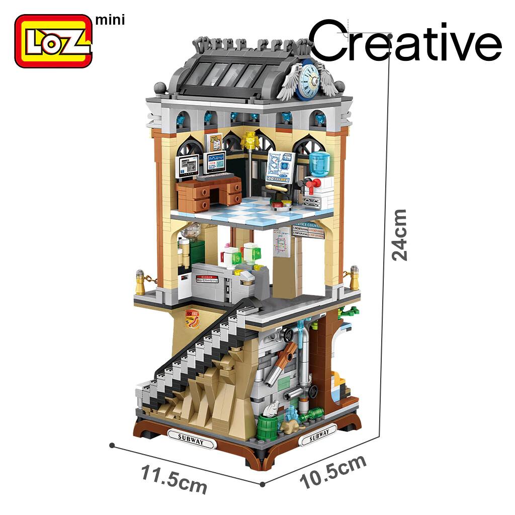 LOZ 1031 City European-style Subway Station Mini Street
