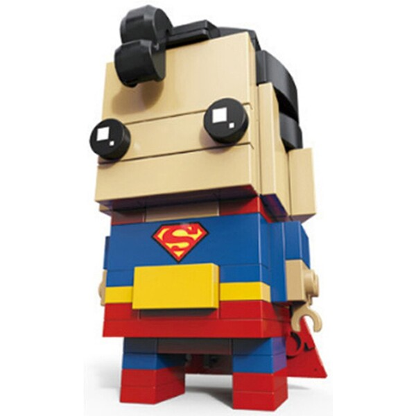 LOZ Super Heroes Figures DC Justice Joker Iron Man Spider Man Brickheadz