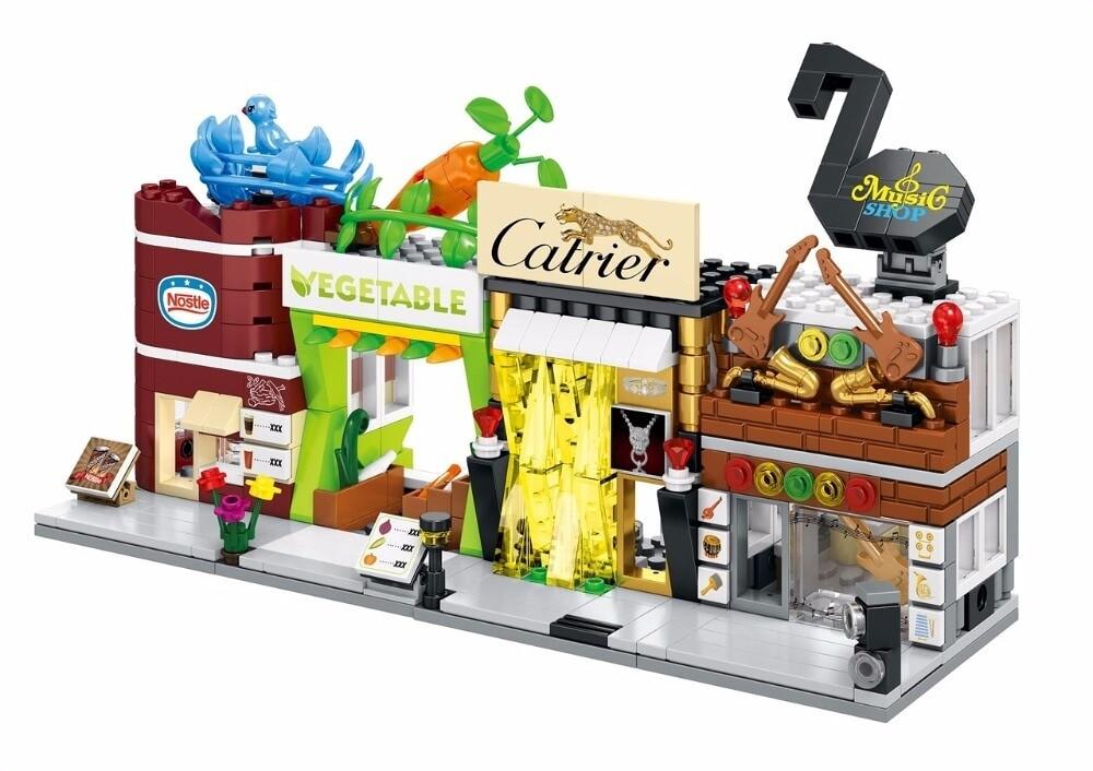 SEMBO SD6034-SD6037 & SD6050-6053 Mini Shop Building Bricks