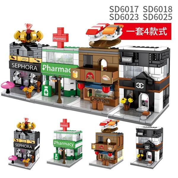SEMBO SD 6084-6099 & 6054-6057 Mini Street Shop Model