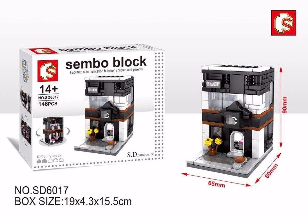 SEMBO SD6015-SD6041 & SD6070-SD6087 Mini Store Building Bricks