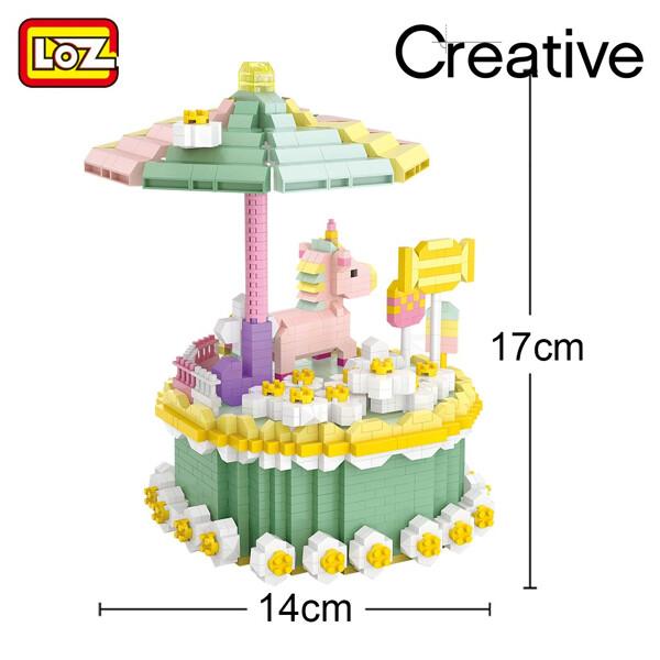 LOZ Diamond Blocks 9051 Birthday Cake Macaron Unicorn