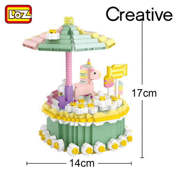 LOZ 9051 Birthday Cake with Macaron and Unicorn