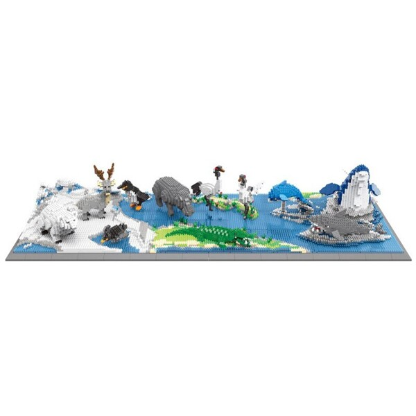 PZX 6622-6624 Animal World Penguin Bird Polar Bear Deer Hippo Alligator And More