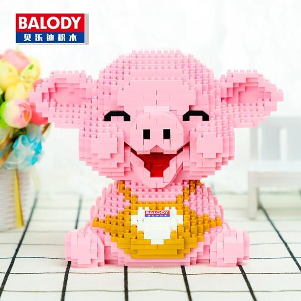 Balody 16125 Pink Smile Piggy Sit