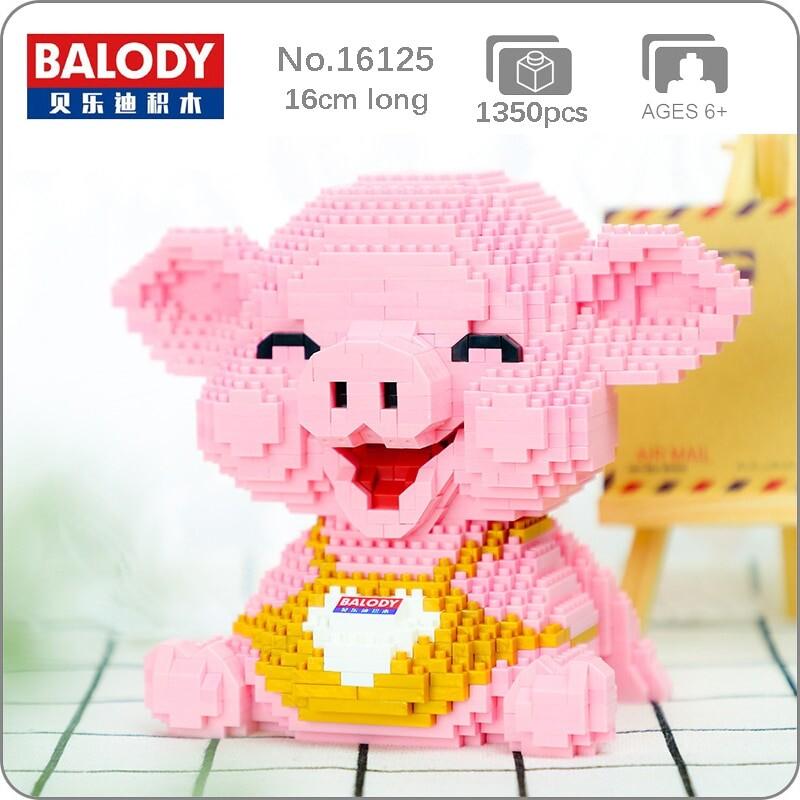 Balody 16125 Pink Smile Pig Piggy Sit Animal