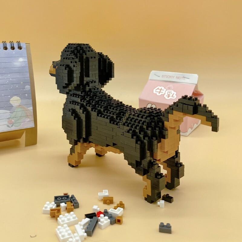 Balody 18244 Cartoon Black Dachshund Dog