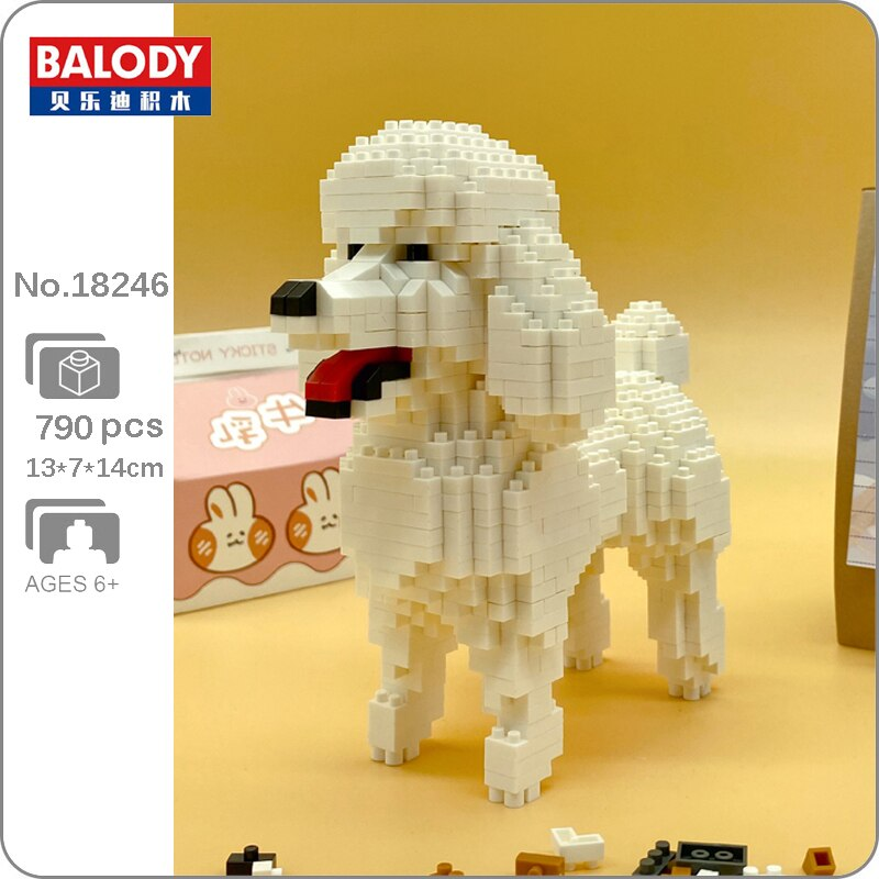 BALODY 18246 Cartoon White Poodle Dog