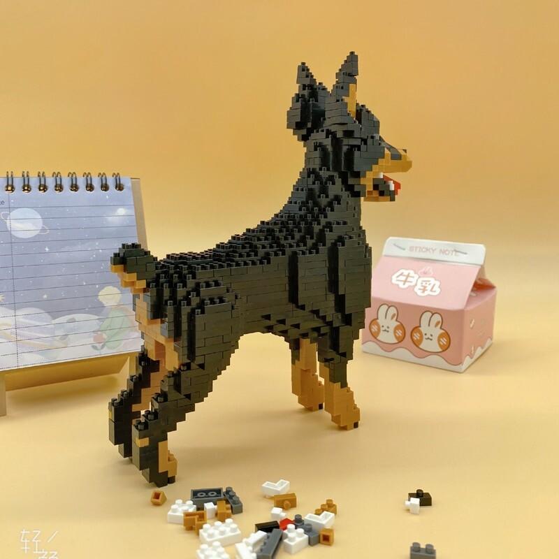 BALODY 18247 Cartoon Black Dobermann Dog