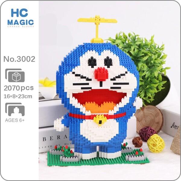 HC 3002 Anime Doraemon Cat Animal Pet Robot Flower