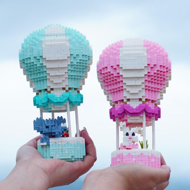 HC 1052-1053 Hot Air Fire Balloon Elephant Rabbit