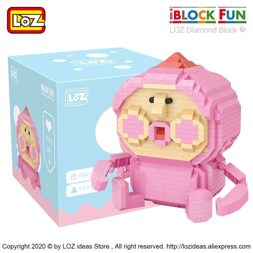 LOZ Diamond building blocks micro drill Christmas bear cherry blossom unicorn rainbow horse peach assembled toy building blocks