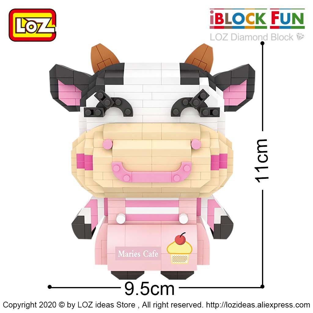 LOZ Diamond building miniature small particle building blocks zodiac cow cow CP cow puzzle assembled decompression toy for men