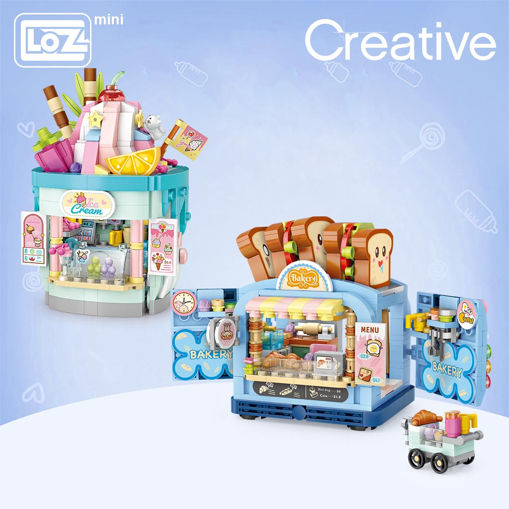 LOZ 1745-1746 Ice Cream Shop and Toast Shop