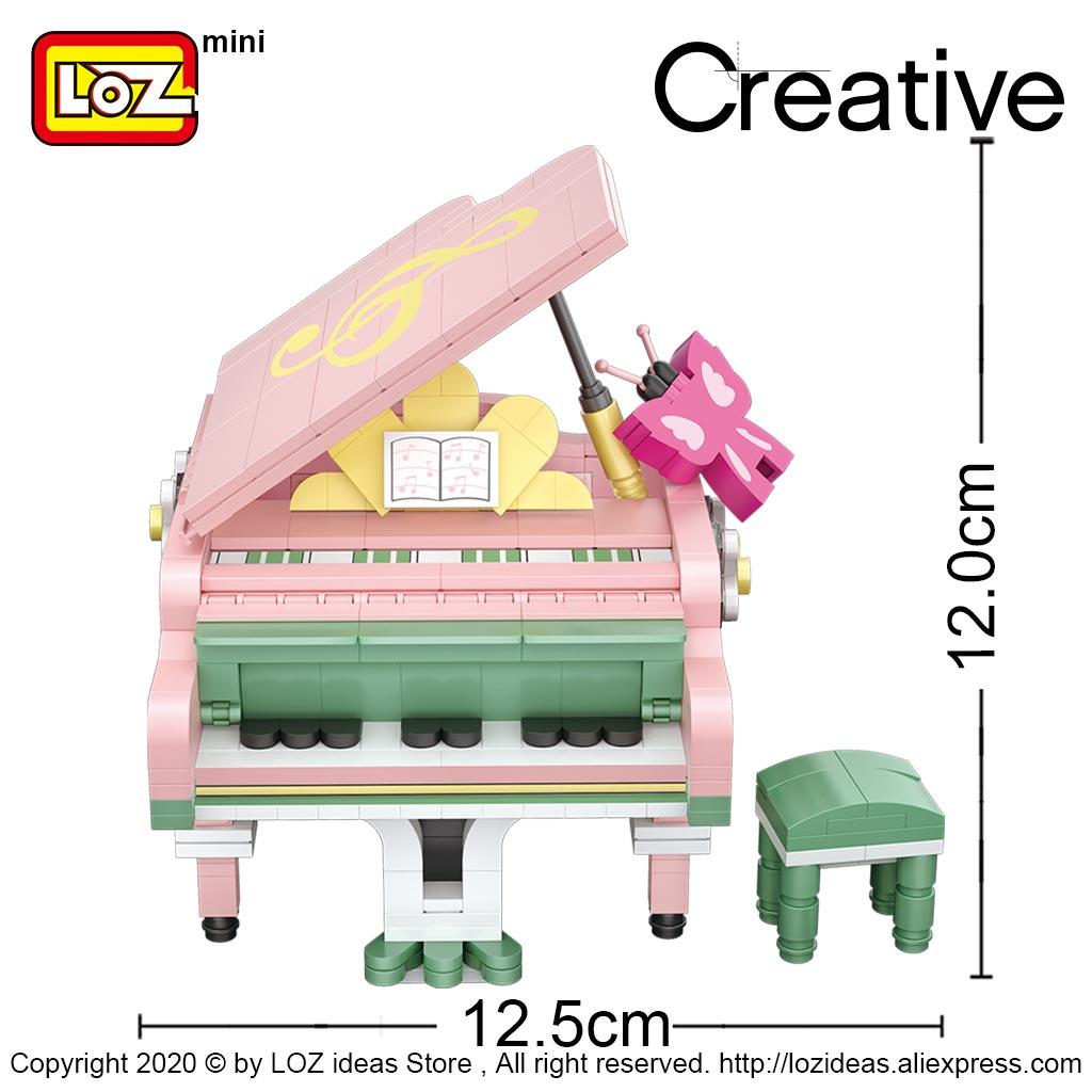 LOZ Mini Building Blocks piano violin musical instrument puzzle assembly mini blocks model decoration assembly toy