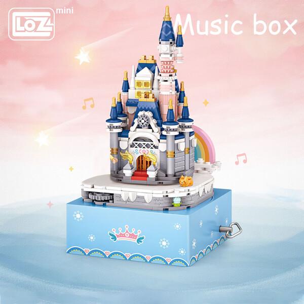 LOZ Mini Block 1220 Princess Castle Rotating Music Box