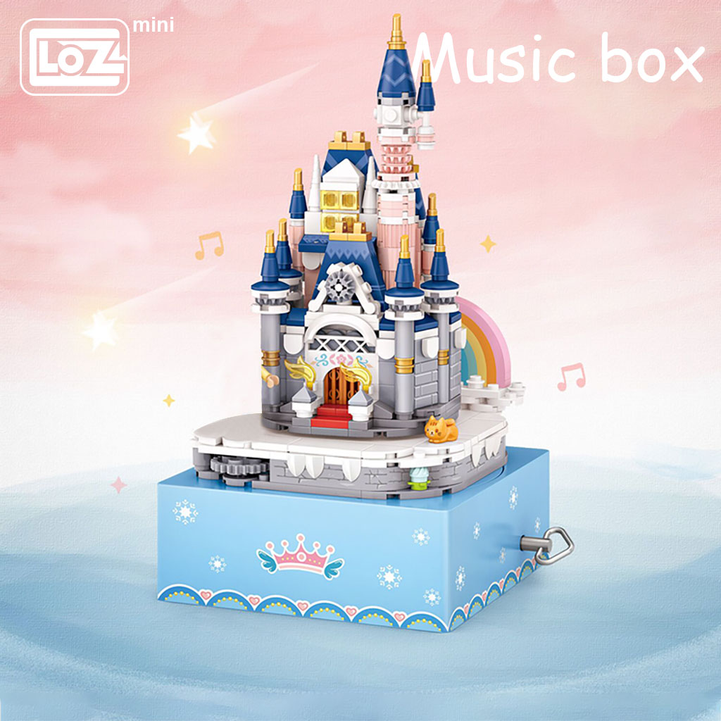 LOZ Mini Block 1220 Princess Castle Rotating Music Box