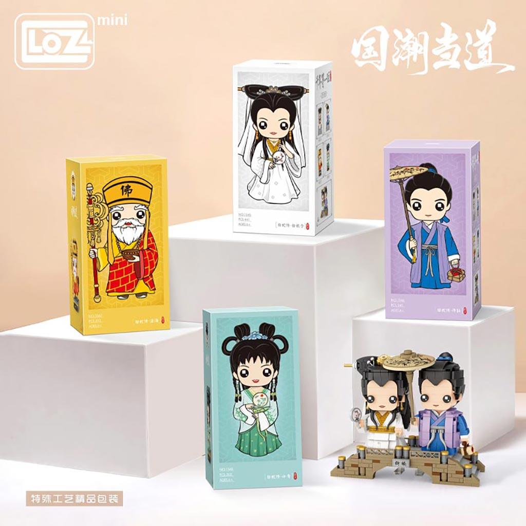 LOZ Mini blocks White Snake Passes the Country Tide Power White Lady Xu Xian Fahai Xiaoqing Fangtou Building Block Doll Toy