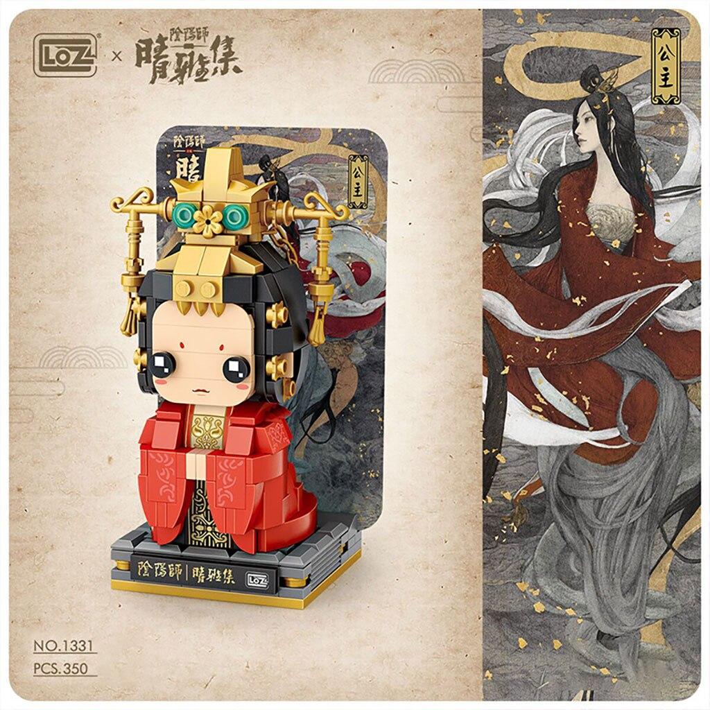 LOZ Onmyoji Movie Qingya Set Square Head Boy Building Block Boya Mini Assembling Toy Qingming