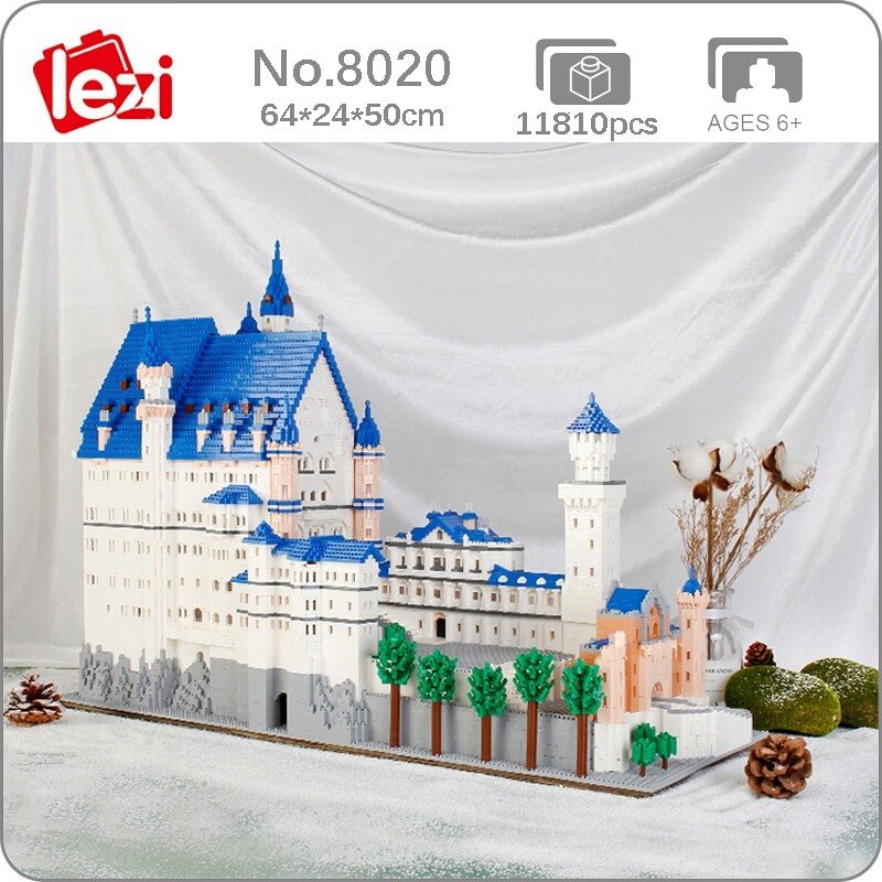 Lezi 8020 World Architecture New Swan Stone Castle