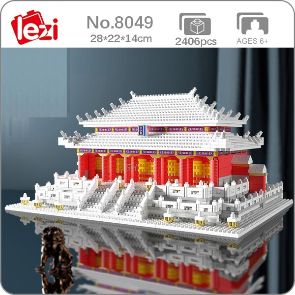 Lezi 8049 World Architecture Hall of Supreme Harmony Taihe Palace