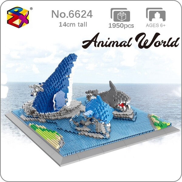 PZX 6624 Animal World Shark Dolphin Whale Fish Sea