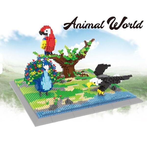 PZX 6626 Animal World Parrot Weagle Peacock Bird