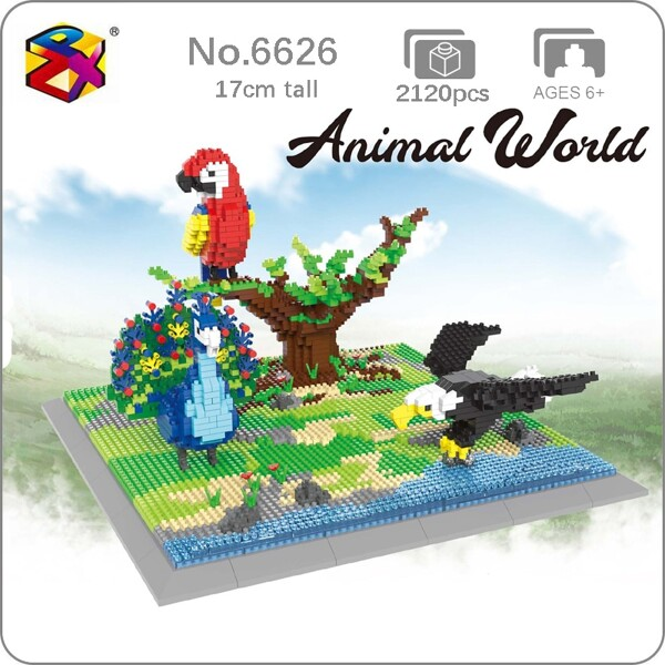 PZX 6626 Animal World Parrot Weagle Peacock Bird