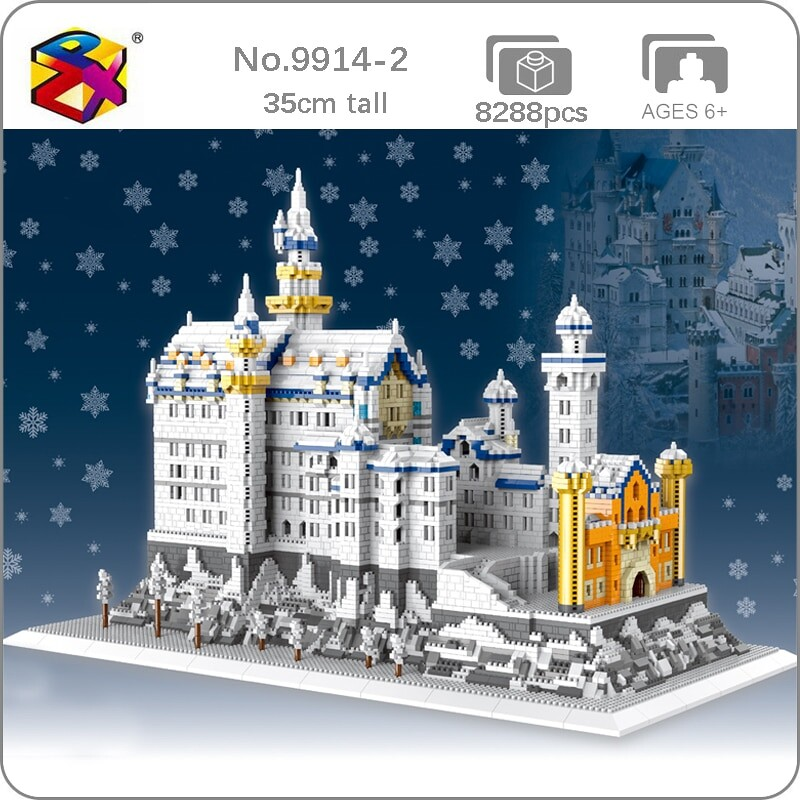 PZX 9914-2 World Architecture Snowing Swan Stone Castle