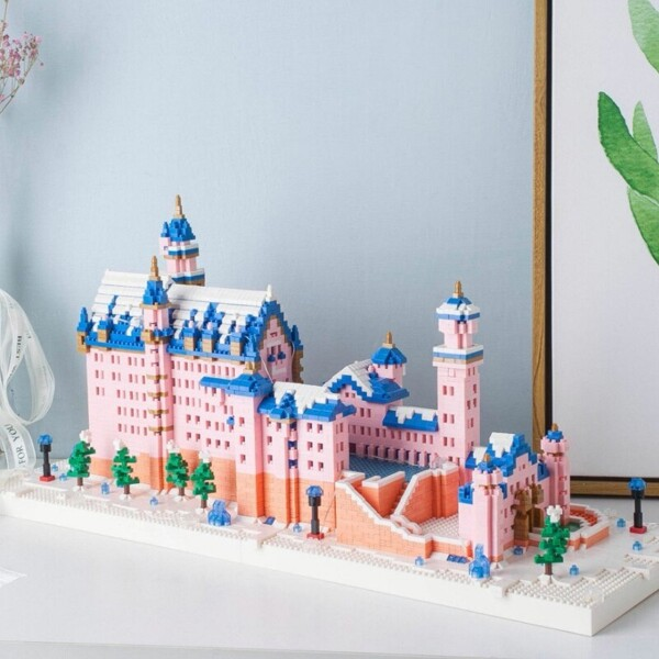 Weagle 2633 World Architecture Pink Swan Stone Castle