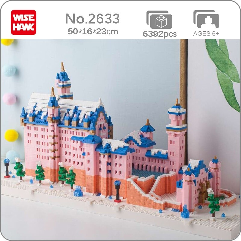 Weagle 2633 World Architecture Pink Swan Stone Castle