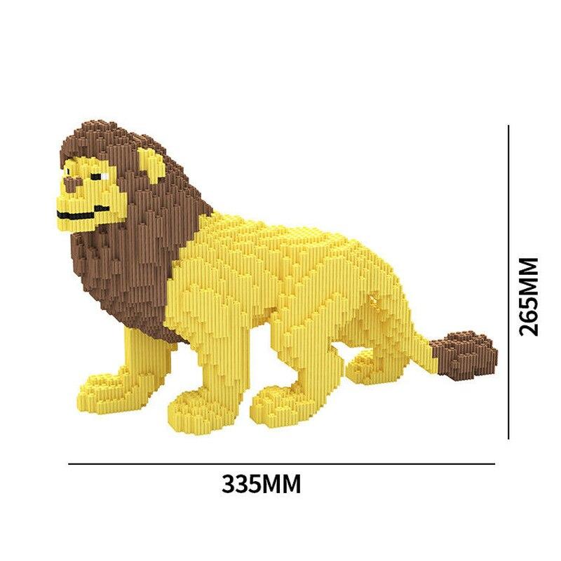 XIZAI 8008 Yellow Male Lion Wild Animal Pet