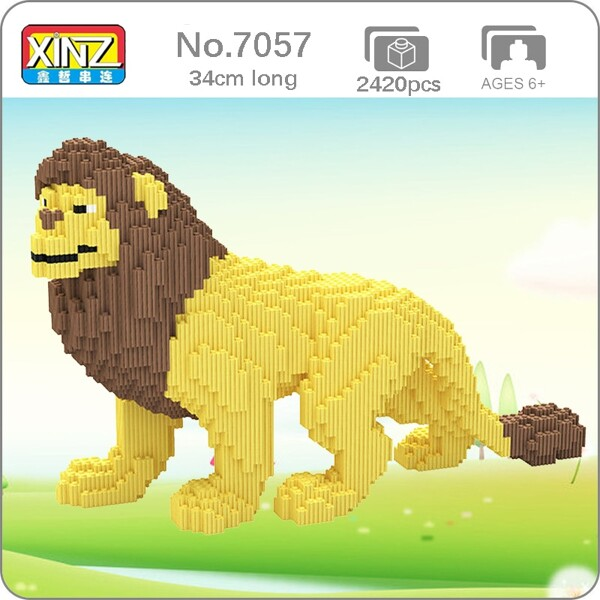 XIZAI 8008 Yellow Male Lion Wild Animal Pet