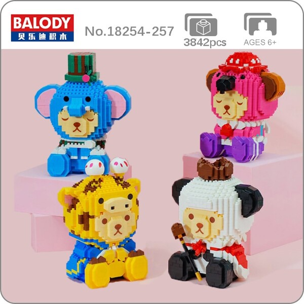 Balody Dressed-up Bear Animal Disguise Panda Koala Giraffe Elephant Mini Diamond Blocks Bricks Building Toy for Children no Box